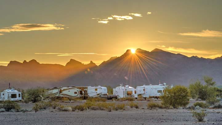 Quartzsite Desert RV Boondockging AZ