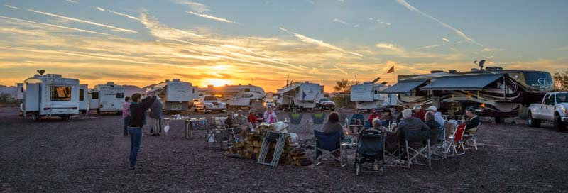 Hitchhiker RV gathering Quartzsite Arizona