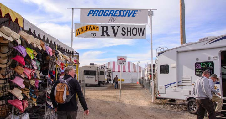 Entrance to Quartzsite Arizona RV Show