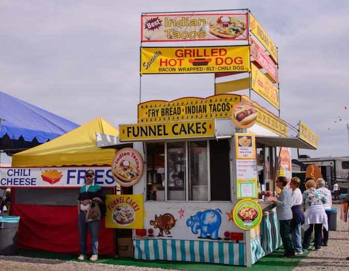 Funnel cakes Quartzsite RV Show