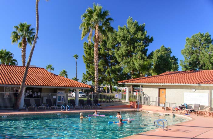 Water aerobics Swimming pool exercise class ViewPoint RV Resort
