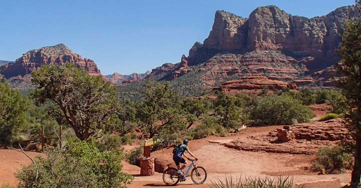 Mountain biking in Sedona Arizona
