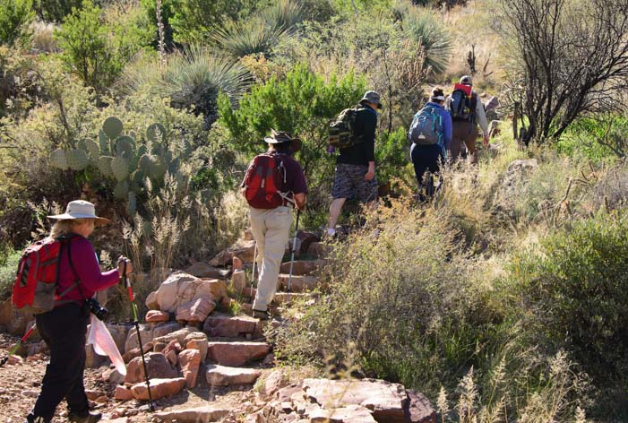 Upper Cliff Dwelling Tour hike Tonto National Monument Arizona