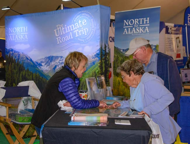 Quartzsite Arizona RV Show - Alaska booth
