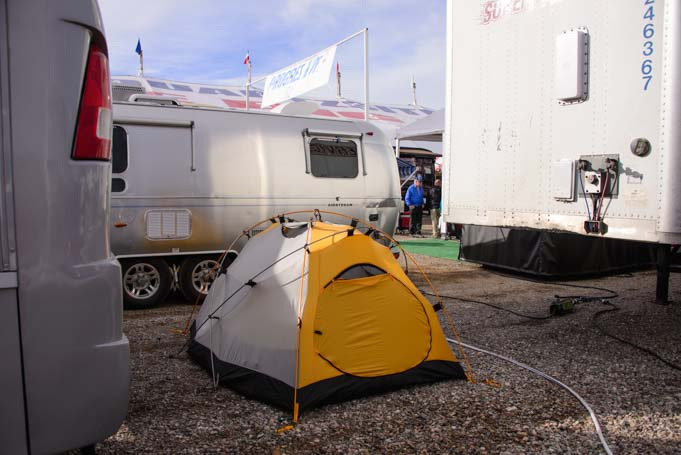 Tent camping Quartzsite Arizona RV Show
