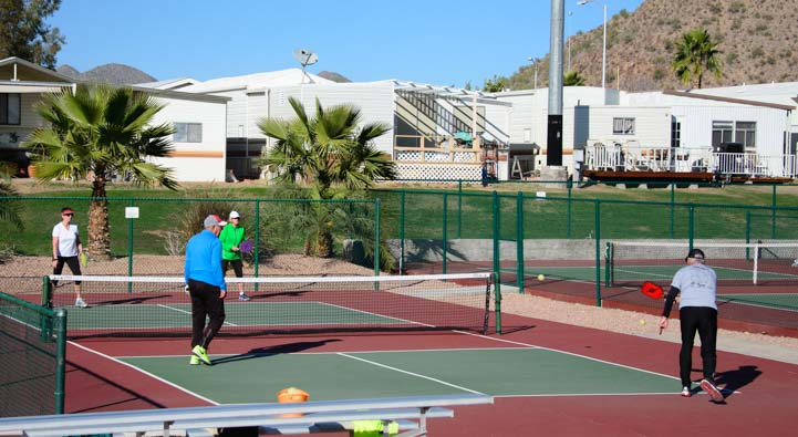 Pickleball at View Point RV Resort Mesa Arizona