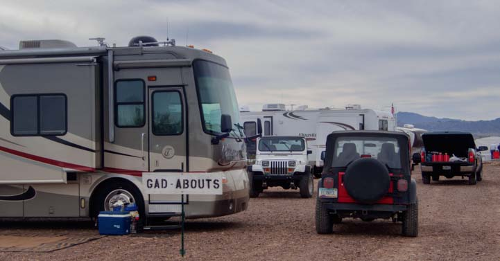 Gad About RV Camping Gathering Quartzsite Arizona
