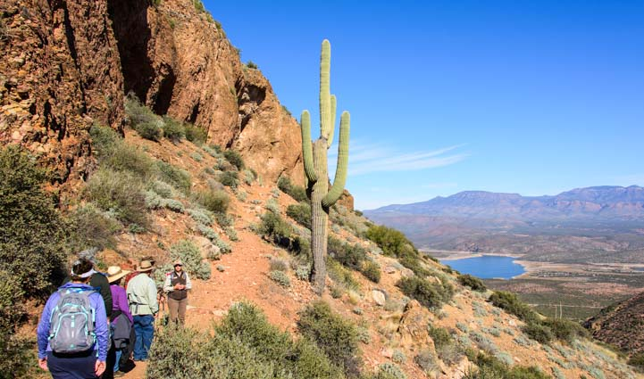 Hike to Upper Cliff Dwellings Salado People Tonto National Monument Arizona