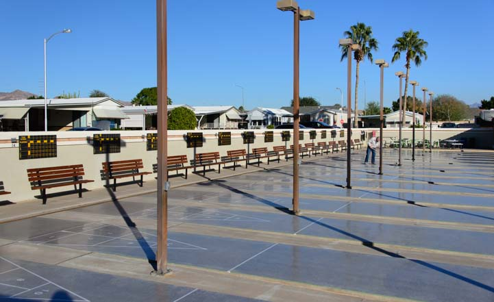 Shuffleboard Courts ViewPoint RV Resort Mesa Arizona
