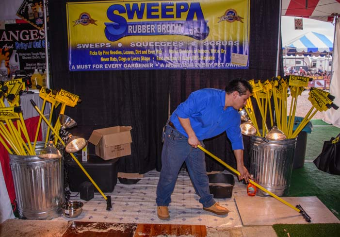 Sweepa brooms Quartzsite RV Show Arizona