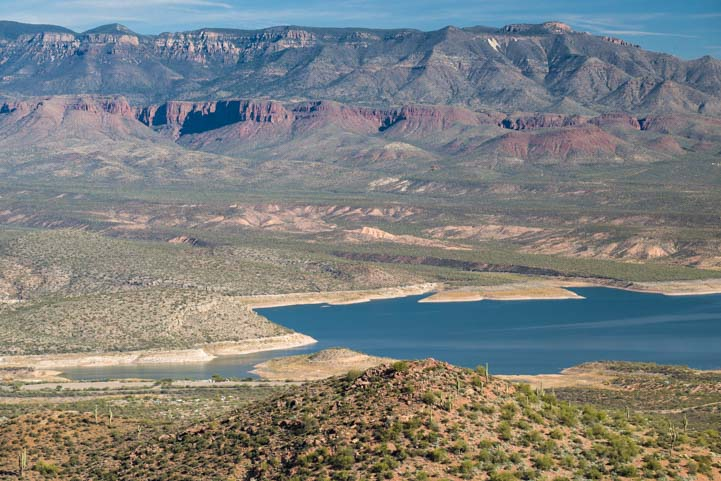 Roosevelt Lake Arizona from Tonto National Monument