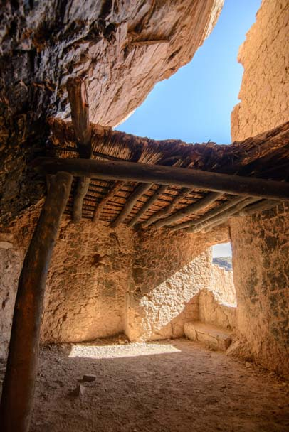 Ancient Indian upper cliff dwellings Tonto National Monument Arizona