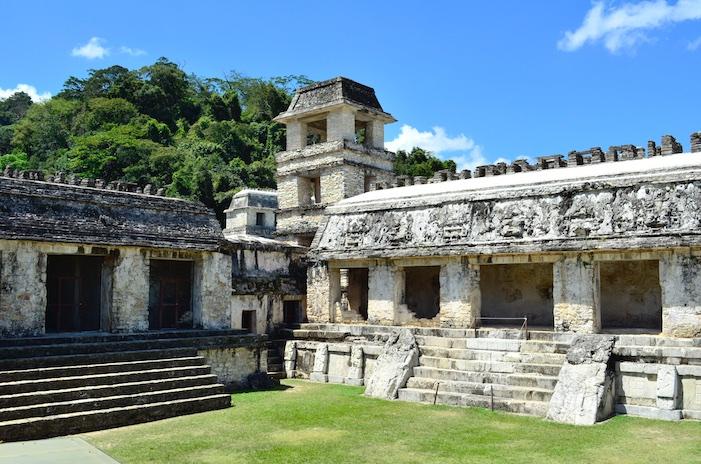 Mayan ruins Palacio in Palenque Mexico