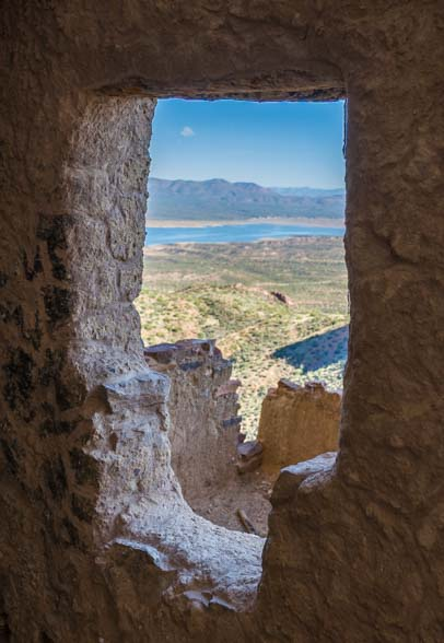 Upper Cliff Dwellings Salado People Tonto National Monument T-Window
