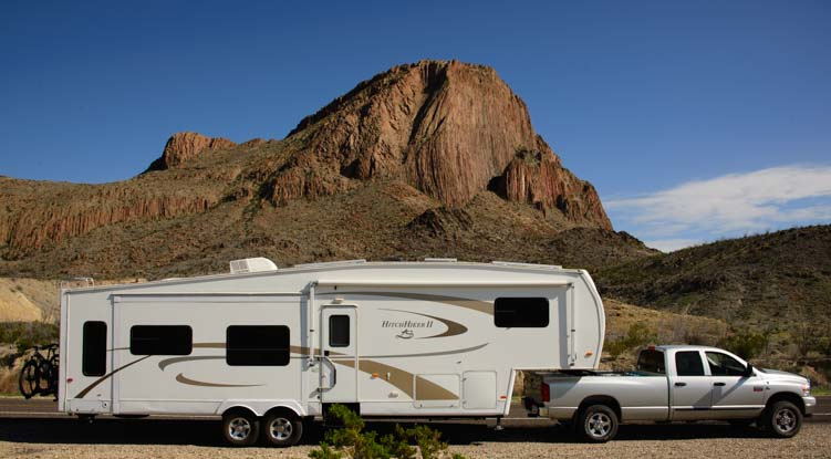 Dodge Ram 3500 Hitchhiker Fifth wheel trailer