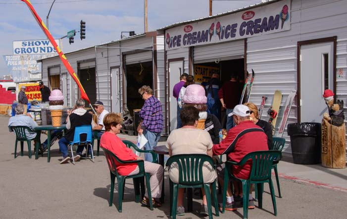 Ice cream shop Quartzsite Arizona