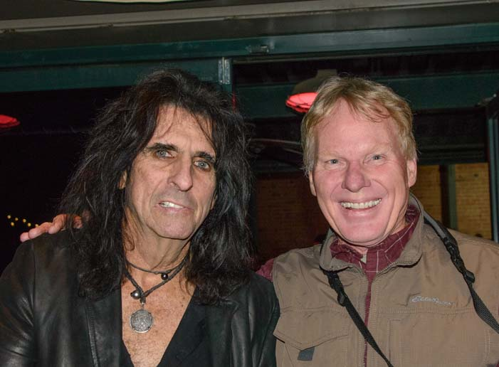 Alice Cooper up close and personal