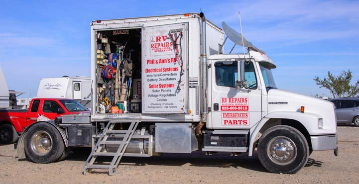 Mobile RV Repair Service Quartzsite Arizona