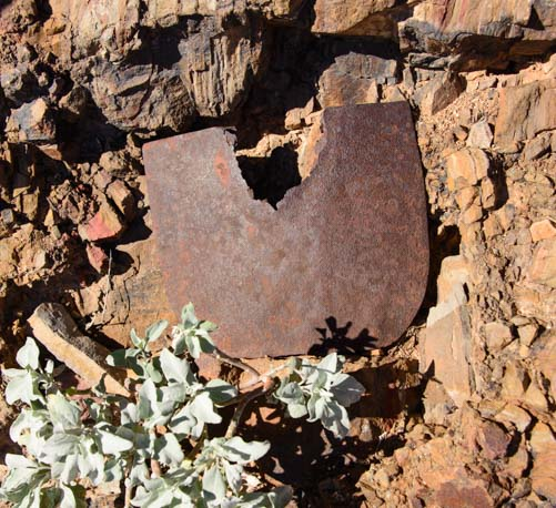 Charlie Steen shovel from 1930's excavation Tonto National Monument Arizona