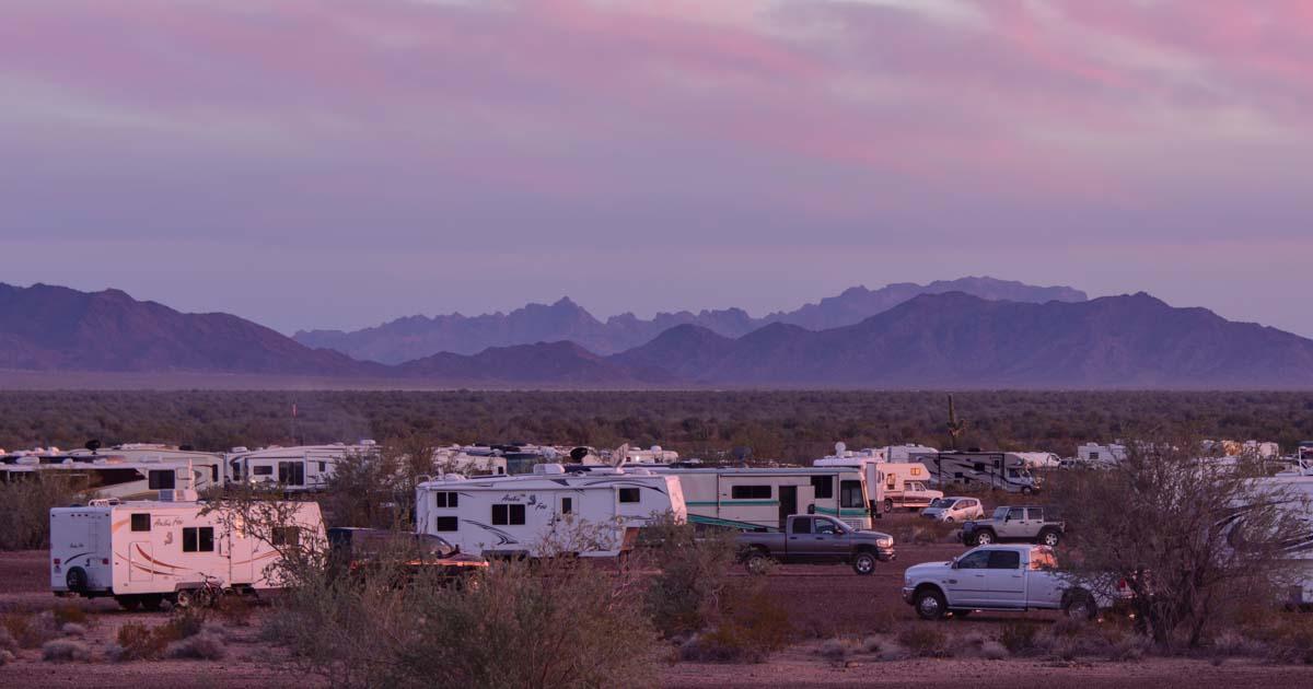 Quartzsite Arizona The Rv Gathering Place Roads Less