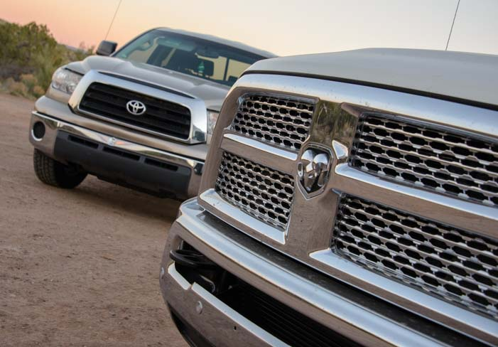 Dodge Ram truck grill and Toyota Tundra truck grill