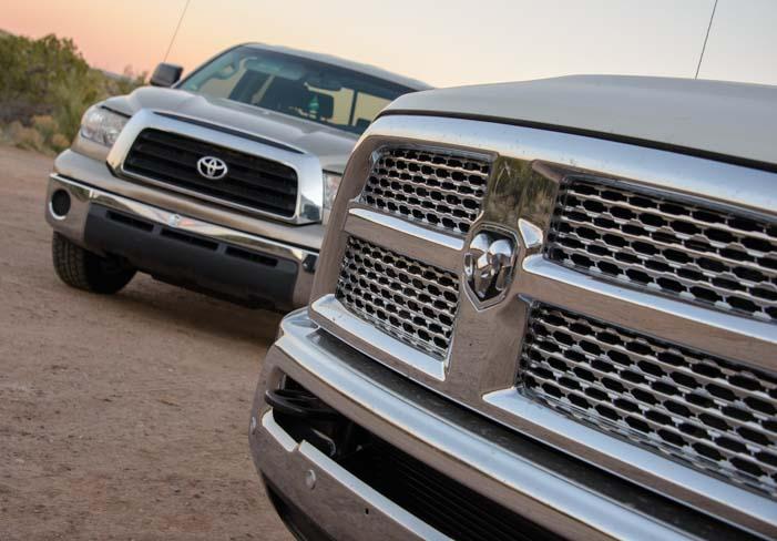 Dodge Ram truck grill and Toyota Tundra truck grill