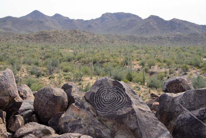 Signal Hill Spiral petroglyph Saguaro National Park Tucson Arizona