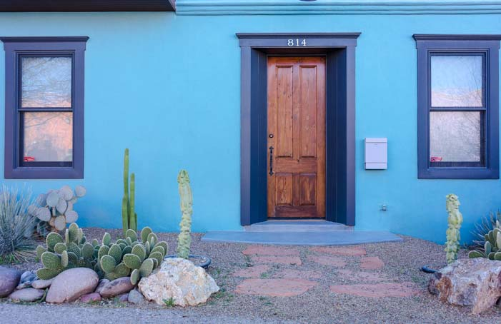 Historic adobe door Tucson Arizona