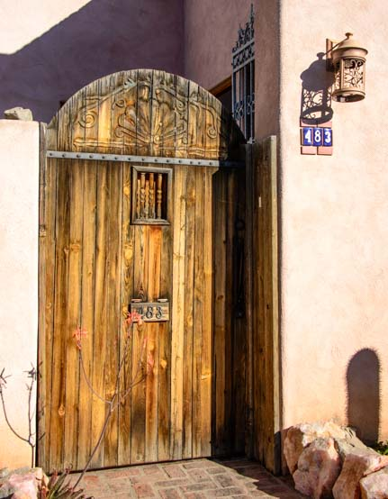 Wooden door in Old Town Tucson Arizona