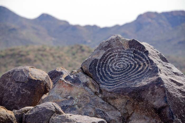 Spiral Petroglyph Signal Hill Saguaro National Park Arizona 2