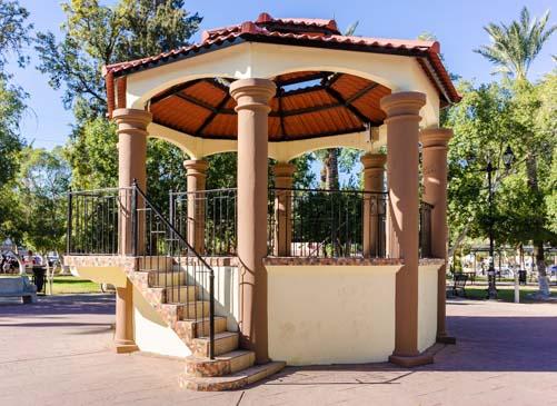 Bandstand Benito Juarez Park San Luis Rio Colorado Mexico