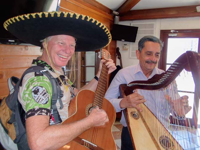 Singing with Mariachi El Parianchi restaurant San Luis Mexico