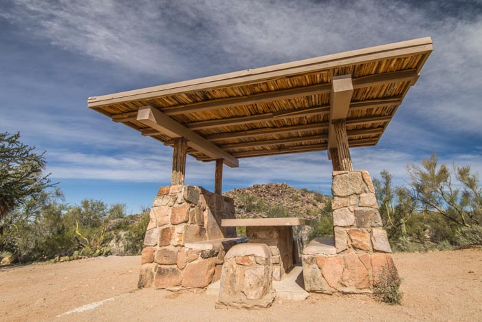 Picnic ramada built by CCC Saguaro National Park Tucson AZ