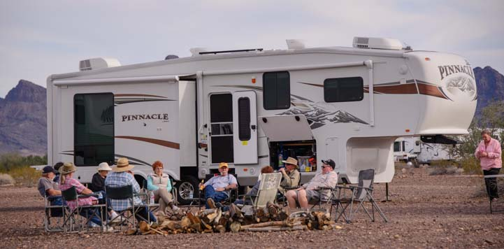 Quartzsite Arizona RV boondocking in the desert