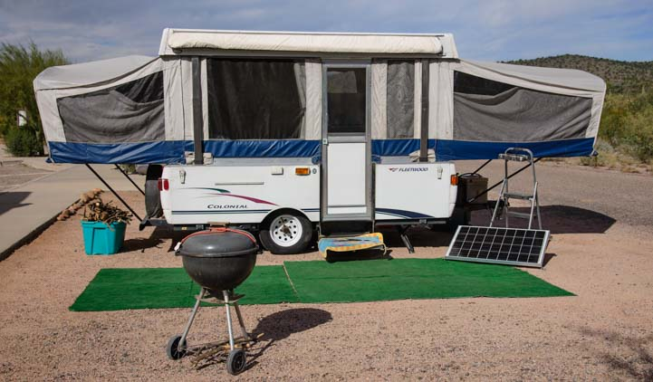 Popup camper tent trailer RV