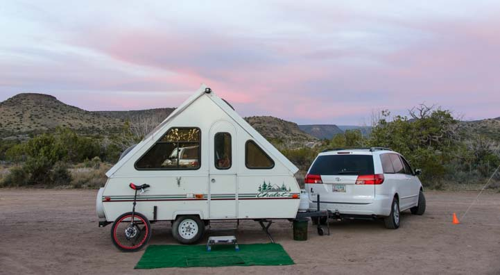Chalet folding trailer RV