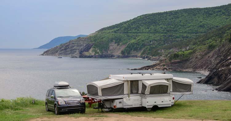 Popup camper Cape Breton Island Nova Scotia