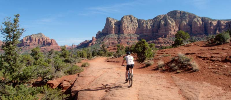 Mountain bike Bell Rock Pathway Oak Creek Arizona