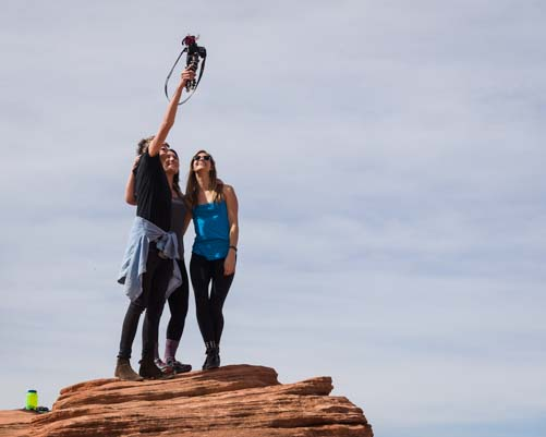 Taking selfies at Horseshoe Bend Arizona