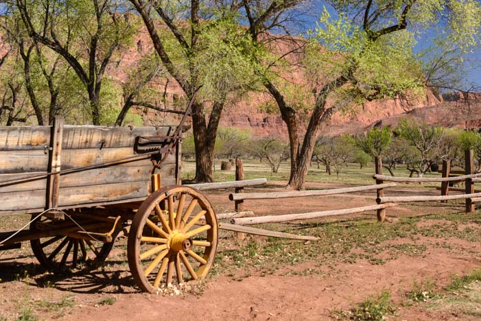 Old wagon at Lees Ferry Arizona