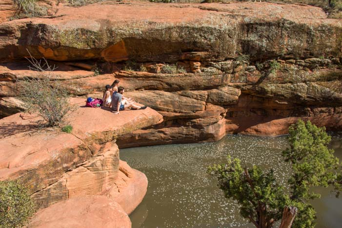Sunbathing Wet Beaver Creak The Crack Sedona Arizona