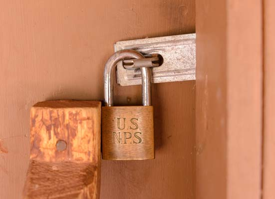 NPS Padlock Lees Ferry Arizona