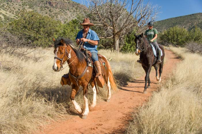 Horseback riding Bell Trail Sedona Arizona