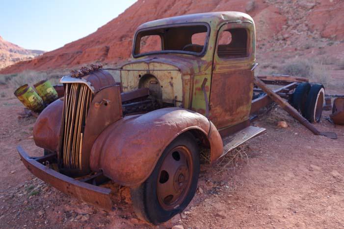 Antique Chevy truck Lees Ferry Arizona