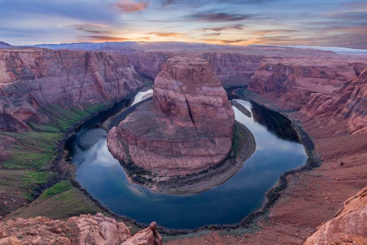 Horseshoe Bend Sunset Arizona