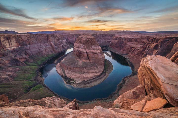 Horseshoe Bend Arizona sunset photo