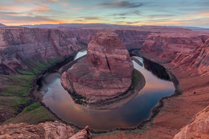 Sunset at Horseshoe Bend Arizona