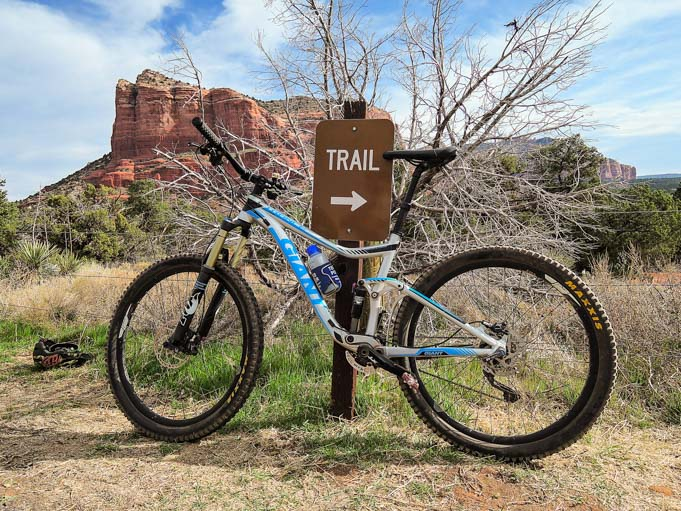Mountain bike on Bell Rock Pathway Sedona AZ