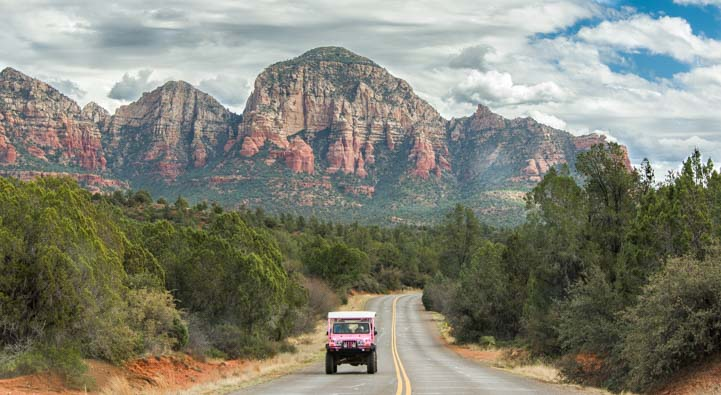 Pink Jeep West Sedona Arizona