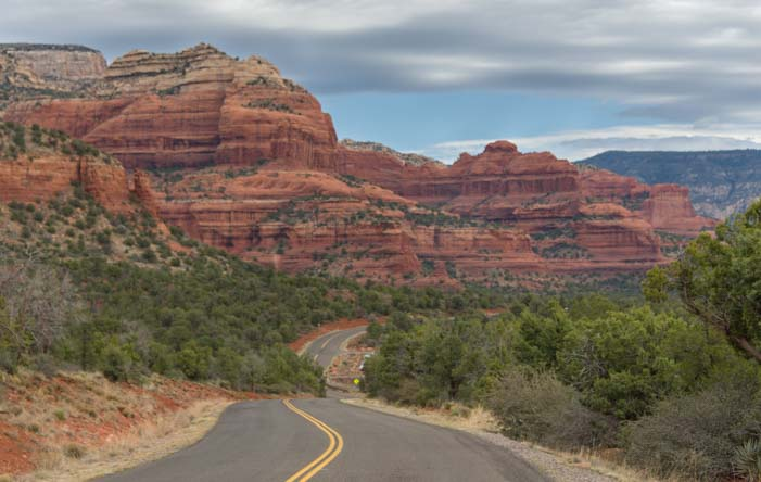 West Sedona Arizona scenic drives in the red rocks